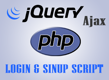 jQuery Ajax Login and Signup form – PHP Script